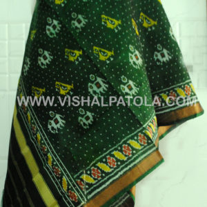 GREEN PARROT AND ELEPHANT DESIGN DUPATTA